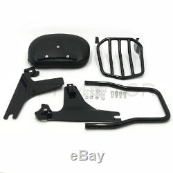Detachable Backrest Sissy Bar Luggage Rack for Harley Softail DELUXE