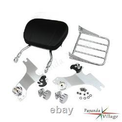 Detachable Backrest Sissy Bar Luggage rack For Harley Davidson Sportster 2004-UP