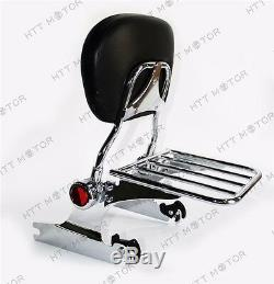 Detachable Backrest Sissy Bar Luggage rack For Harley Softail DELUXE 06-later Ch