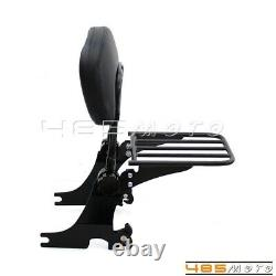 Detachable Backrest Sissy Bar With Luggage Rack For Harley Sportster XL 883 1200
