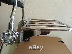 Detachable Backrest Sissy Bar for Harley Sportster 04 Up