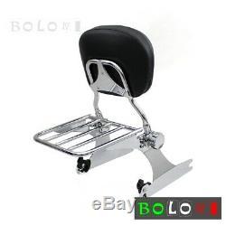 Detachable Backrest Sissy Bar with Luggage Rack For Dyna Fat Bob FXDF 2008-2017