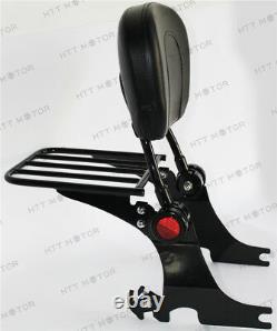 Detachable Backrest Sissy Bar with Luggage Rack For HD Sportster 94-03 Adjustable