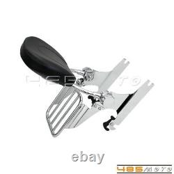 Detachable Backrest Sissy Bar with Luggage Rack For Harley Davidson Softail 07-UP