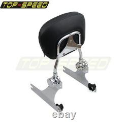 Detachable Backrest Sissy Bar with Luggage Rack For Harley Dyna Super Wide Glide