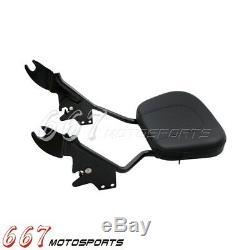 Detachable Backrest Sissy Bar with Luggage Rack For Harley Touring 2009-2017