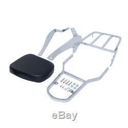 Detachable Backrest Sissy Bar with Luggage Rack For Suzuki Volusia VL800 M50 C50