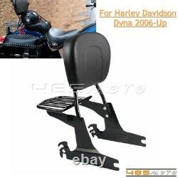 Detachable Backrest Sissy Bar with Luggage Rack for Harley Dyna Street Bob FXDB