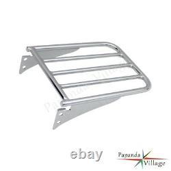 Detachable Backrest Sissy bar & Luggage Rack For Harley Sportster XL 883 1994-03