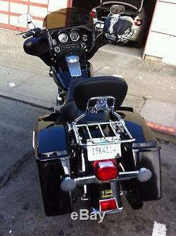 Detachable Backrest Sissy bar & Luggage Rack for Harley Touring Davidson 97-08