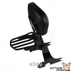 Detachable Backrest Sissybar Luggage Rack For Harley Sportster XL883 1200 94-03