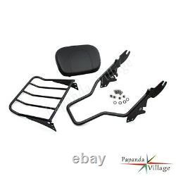 Detachable Backrest Sissybar Luggage Rack for Harley Davidson Touring 1997-2008