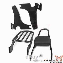 Detachable Backrest Sissybar Luggage Rack for Harley Sportster XL883 1200 04-UP