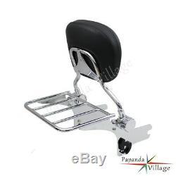 Detachable Backrest Sissybar and luggage Rack for Harley Davidson Touring 97-08