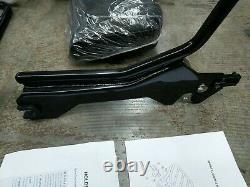 Detachable Holdfast Sissy Bar Backrest Gloss Black Fit 18+ Harley Breakout FLFB