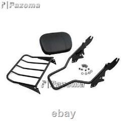 Detachable Passenger Backrest Pad Sissy Bar Fit Harley Touring Electra Glide