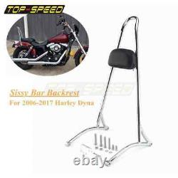Detachable Passenger Backrest Sissy Bar For Harley Dyna Street Bob FXDB 2006-17