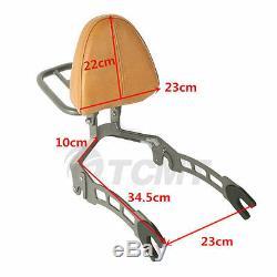 Detachable Passenger Backrest Sissy Bar Luggage Rack For Indian Scout 15-2020 19