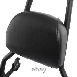 Detachable Passenger Backrest Sissy Bar Pad Black Fit For Harley Softail 2006-up