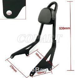 Detachable Passenger Backrest Sissy Bar Pad Kit For Yamaha Stryker XVS 1300