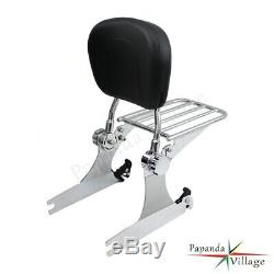 Detachable Passenger Backrest Sissy bar Luggage Rack For Harley Dyna 06-UP Model