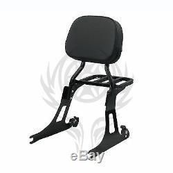 Detachable Passenger Backrest Sissy bar Rack For 06-17 DYNA STREET BOB & SUP
