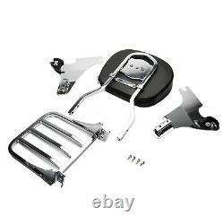 Detachable Passenger Chrome Sissy Bar Backrest With Rack Harley 1200 Sportster