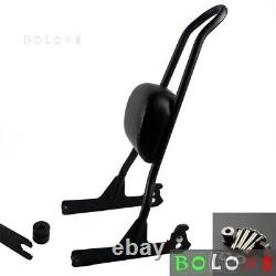Detachable Passenger One-Piece Backrest Tall Sissy Bar For Harley Fatboy Softail