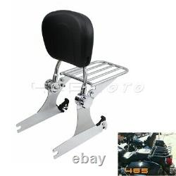Detachable Passenger Sissy Bar Backrest For Harley Dyna Low Rider FXDL Chrome