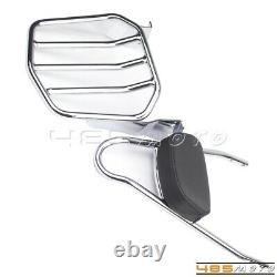 Detachable Passenger Sissy Bar Backrest Luggage Rack For 02-05 Dyna Cafe Racer