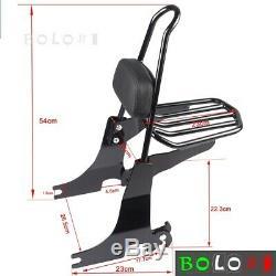 Detachable Passenger Sissy Bar Backrest&Luggage Rack For Harley Sportster 94-03