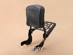 Detachable Passenger Sissy Bar Backrest with Luggage Rack For Victory 2003-2019