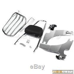 Detachable Rear Sissy Bar Backrest With Luggage Rack For Harley Sportster 883 1200