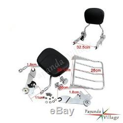 Detachable Sissy Bar BACKREST with Luggage Race For Harley Touring Model 2009-2017