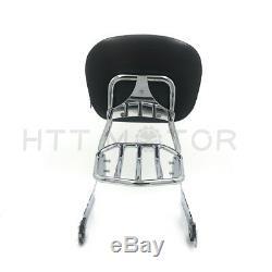 Detachable Sissy Bar Backrest Chrome For Harley Dyna 10-later FXDF FXDWG FXDFSE