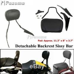 Detachable Sissy Bar Backrest For Suzuki Boulevard M109R M109RZ Limited & Boss