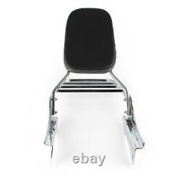 Detachable Sissy Bar Backrest Luggage Rack Fit Honda Shadow Spirit 750 Chrome