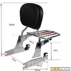 Detachable Sissy Bar Backrest + Luggage Rack For Harley FLSTFBS FLSTSB FLSTFSE