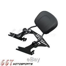 Detachable Sissy Bar Backrest Luggage Rack For Harley Softail 2006-2019 Black