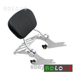 Detachable Sissy Bar Backrest & Luggage Rack For Harley Softail Standard FXST