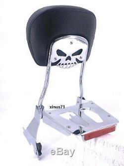 Detachable Sissy Bar Backrest & Luggage Rack Harley Iron 883 XL1200C SuperLow