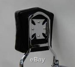 Detachable Sissy Bar/Backrest/Luggage Rack for 2004-up Harley Davidson Sportster