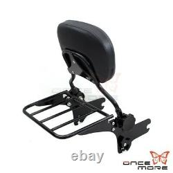 Detachable Sissy Bar Backrest With Luggage Rack For Road King Classic FLHRCI