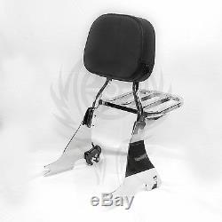 Detachable Sissy Bar Backrest for Harley Sportster XL 883 XL1200 04-17 16