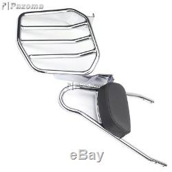 Detachable Sissy Bar Backrest withLuggage Rack For Harley Softail Deuce FXSTD 01