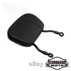 Detachable Sissy Bar Backrest with Luggage Rack For Harley FXDF 2008 2009 Black