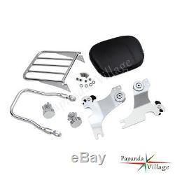 Detachable Sissy Bar Backrest with Luggage Rack For Harley Sportster XL883R 1200C