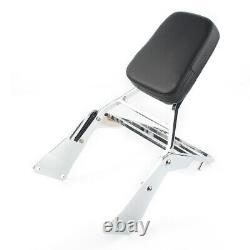 Detachable Sissy Bar Luggage Rack Backrest For Kawasaki Vulcan VN1500 Classic 1x