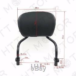 Detachable Sissy Bar Pad Backrest Plain For Harley FLRT Freewheeler 2015-2020