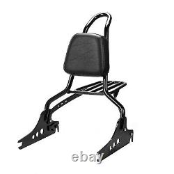 Detachable Sissy Bar Passenger Backrest 20 + Luggage Rack Breakout 2013-2021